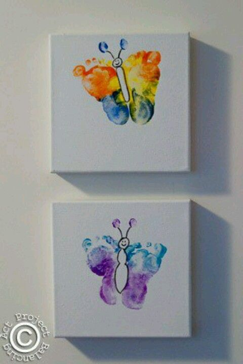 Baby foot print to make a butterfly this is cool and i think i will be doing this with my lil girl :)