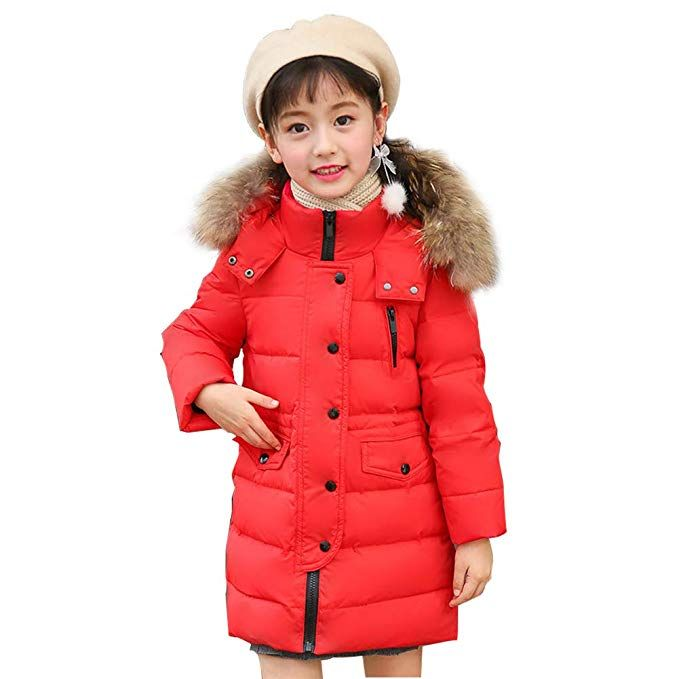 0f02a08eef76 SITENG Girls  Kid Winter Hooded Down Coat Puffer Jacket Parka 8 9 10 ...