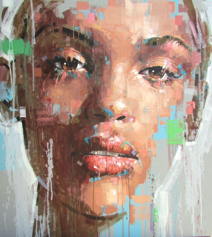 Thembi S Song Artist Jimmy Law Just Faces 2 Painting