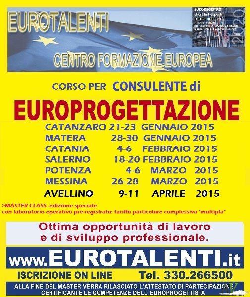 -.-.- CONSULENTE PROGETTAZIONE EUROPEA - Opportunità occupazionale e di sviluppo professionale  RIPARTI CON UNA COMPETENZA INNOVATIVA  Diventa esperto EUROPROGETTISTA  https://www.eurotalenti.it    Esprimi il tuo #TALENTO realizzando #progetti europei www.eurotalenti.it Entra nel TEAM DI EURO-PROGETTISTI IN UN LAVORO CHE PREMIA I TALENTI