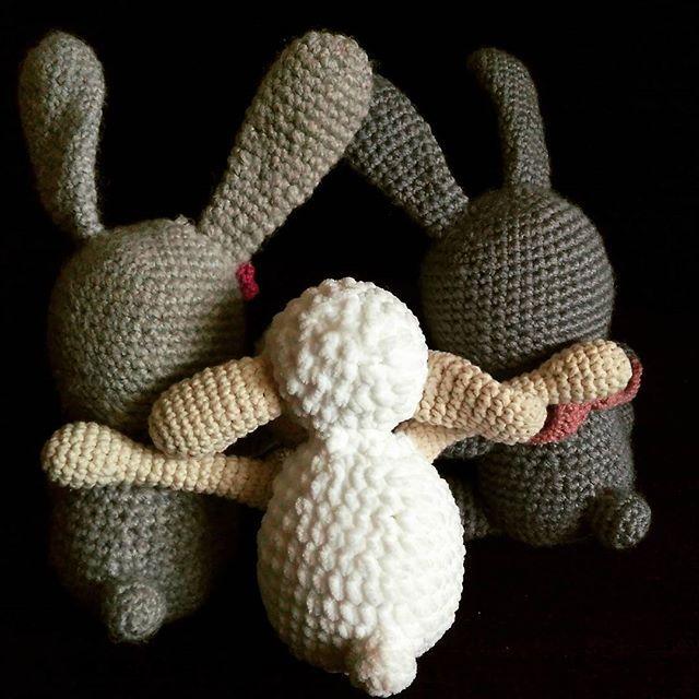 hey guys :) amigurimi animals sheep and bunny