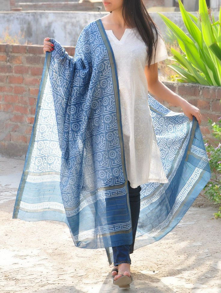 Tribal Geometric Dupatta
