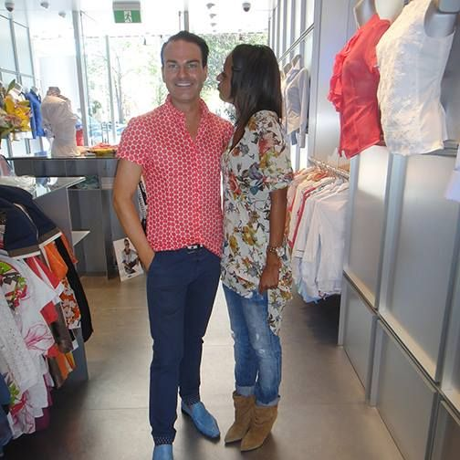 Geoffry Raymond in a Casual Summer Shirt, with Miriam - Oxford St, Paddington, Sydney #Summer #Spring #Hot #Fashion #Clothes #Shirt #Shop #Store #Fashionable #Stylish #Naracamicie
