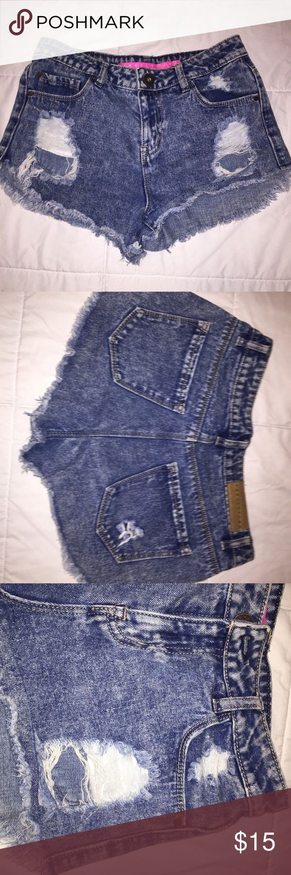 Jean Shorts High Waisted Jean Shorts, I think they're from Charlotte Ruuse, can't remember! They're in great condition. Send an offer. (Pac Sun for advertisement) PacSun Shorts Jean Shorts