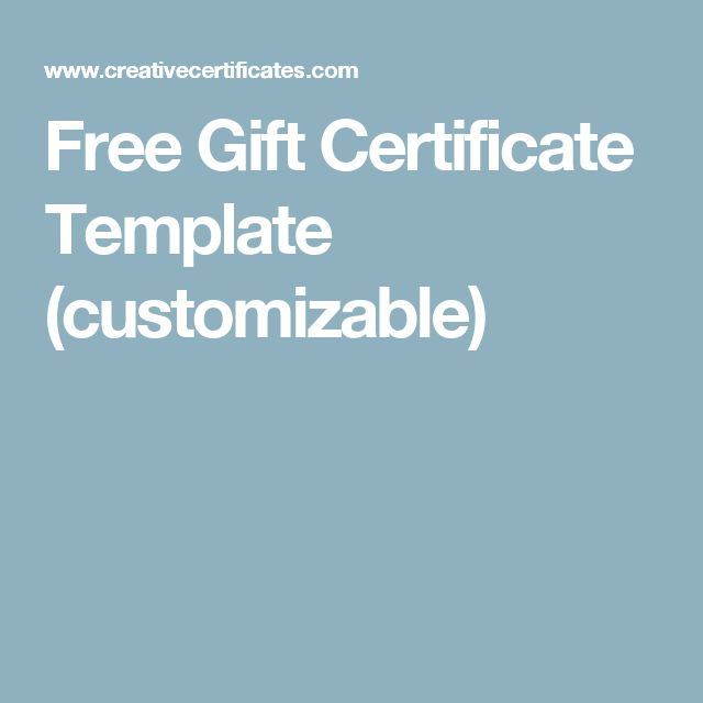 Free customizable gift certificate template 28 images for Free customizable gift certificate template