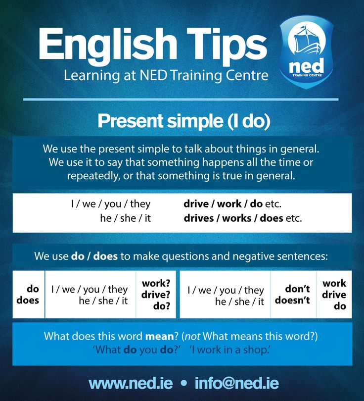 An analysis of the tenses in the english language