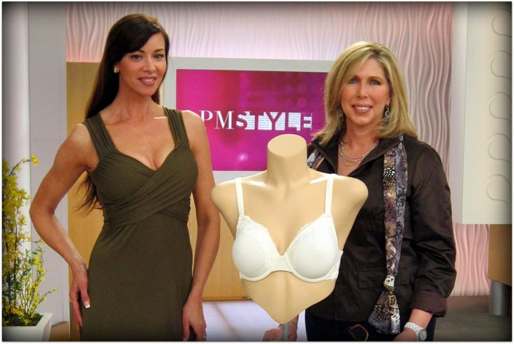 Connie Elder founder of GO2BRAS with Angela Izzo-Sink, QVC model on PM Style. (2012)