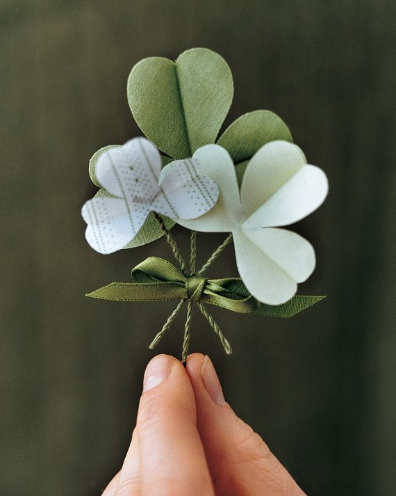 Bring good luck to accessories, cards, and cookies this Saint Patrick's Day with our Irish-inspired clip art and templates.Spruce up your outfit with a three-leaf clover boutonniere using cotton, waxed paper, floral wire, and our template to add a special touch this Saint Patrick's Day.Print the Shamrock Template