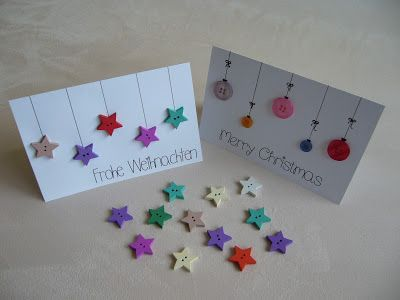 25 einzigartige weihnachtskarten kn pfe ideen auf pinterest button karten weihnachtskarten. Black Bedroom Furniture Sets. Home Design Ideas