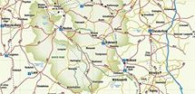Peak District Map with things to do activity sports