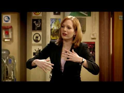 """The IT Crowd, S01E06 """"Aunt Irma"""". I wasn't sure about this show when it first came out, but has since become one of my favorite shows. In this episode, Jen convinces Roy & Moss they are affected by PMS. (Best line: """"I feel delicate...and..annoyed....and I think I'm ugly!"""")"""