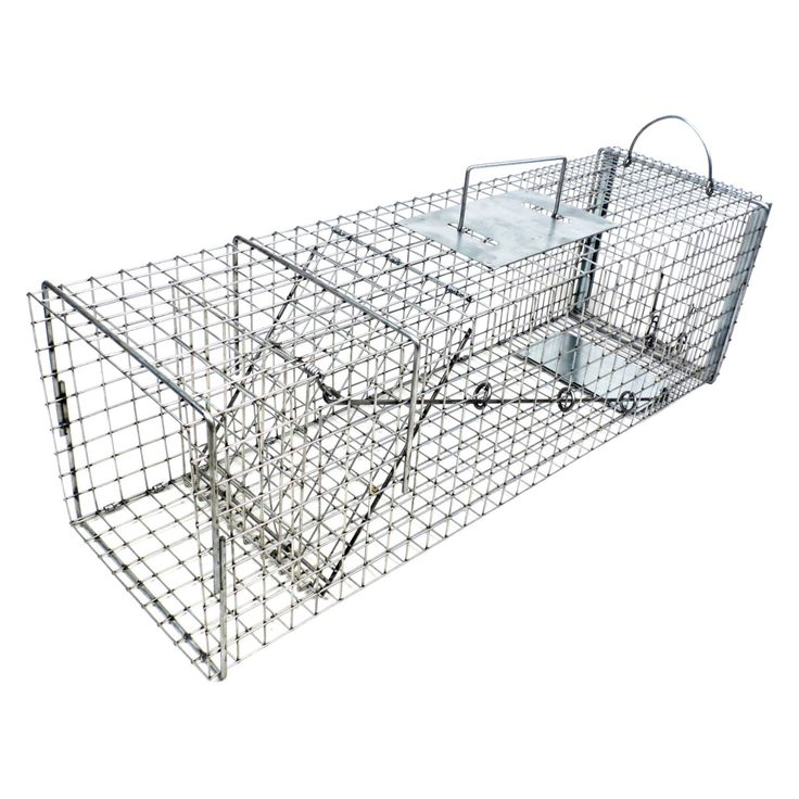 Tomahawk Live Trap Flush Mount Cat Trap with Easy Release Back Door - 606F