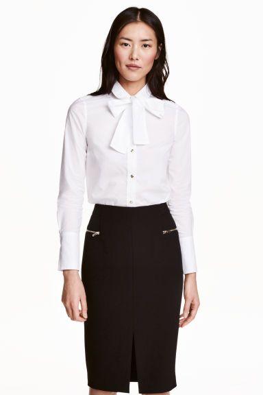 リボンタイ付きコットンシャツ | H&M