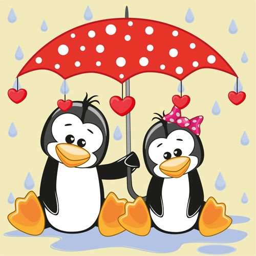 Cute animals and umbrella cartoon vector 12