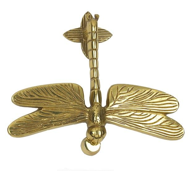 Polished Brass Dragon Fly Door Knocker - Brass Door Knockers - Door Knockers - Door Furniture - Home & Interiors - Catalogue | Black Country Metal Works