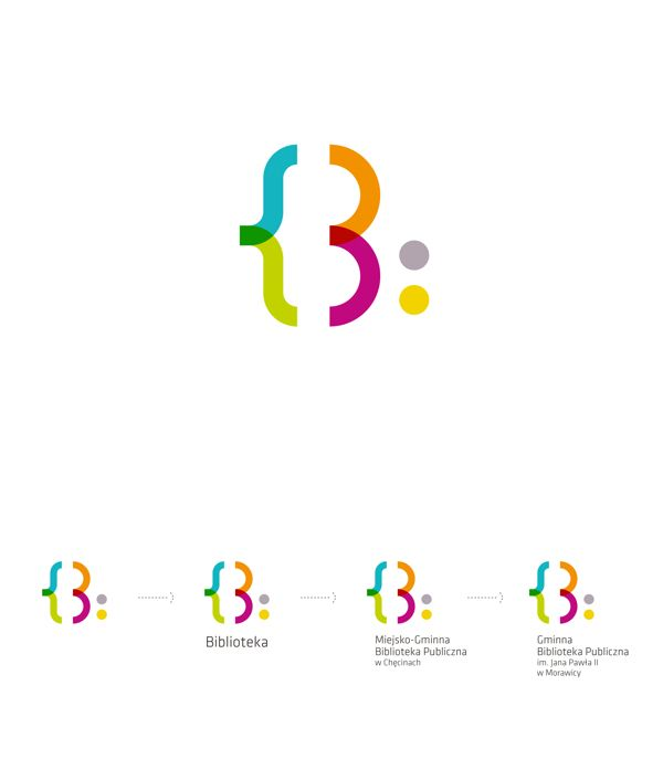 Visual Identity for public libraries by Natalia Bilska, via Behance
