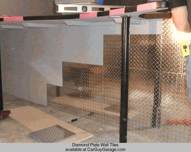 Http rguygarage diamond plate wall tiles car