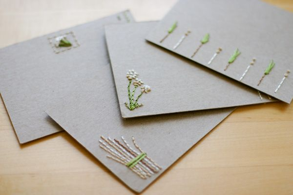 Embroidered cards that kids can make a great way to