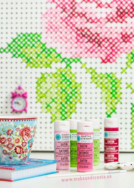 Att bygga & måla en håltavla - Pyssel & pysseltips - Make & Create