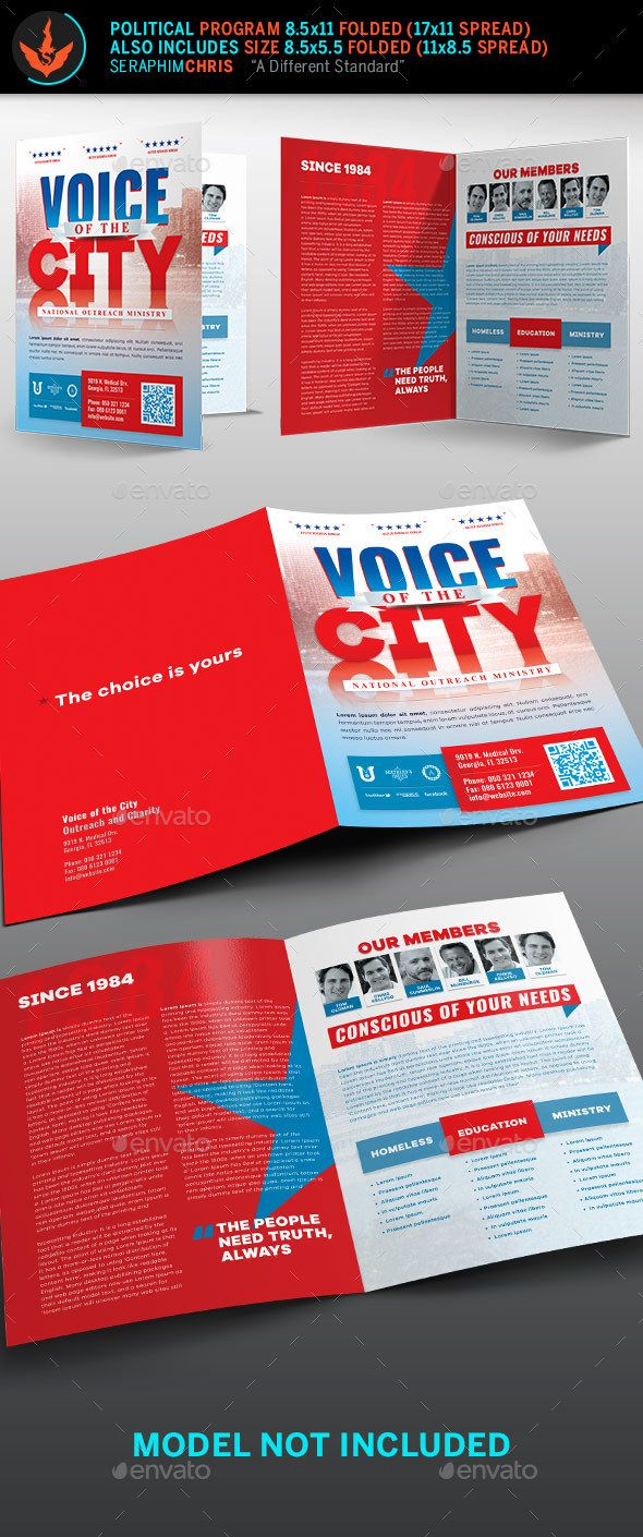 Voice Of The City Charity Brochure Template Corporate