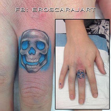 Finger Skull Tattoo #Brisbane #Tattoo #Artist #Tattooist