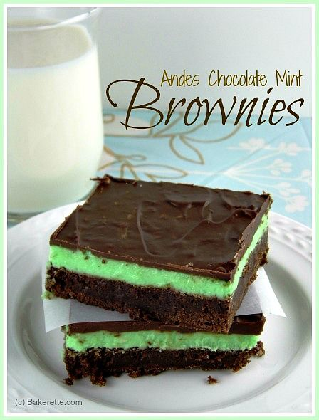 THEE BEST BROWNIES EVER! It is fair to warn you that if you make this Andes Chocolate Mint Brownie Recipe, be prepared to eat the whole batc...