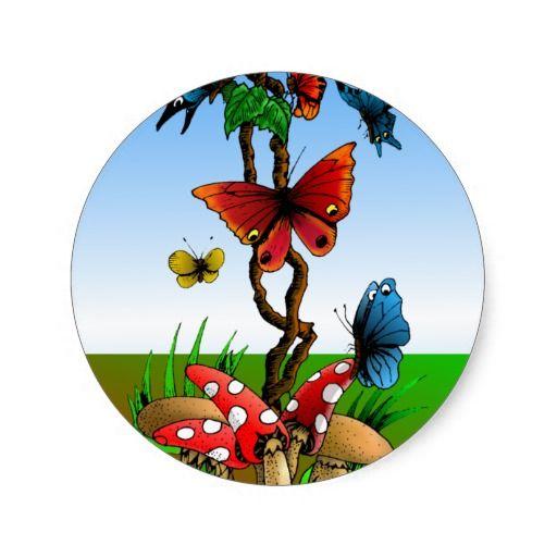 Butterfly Garden Stickers