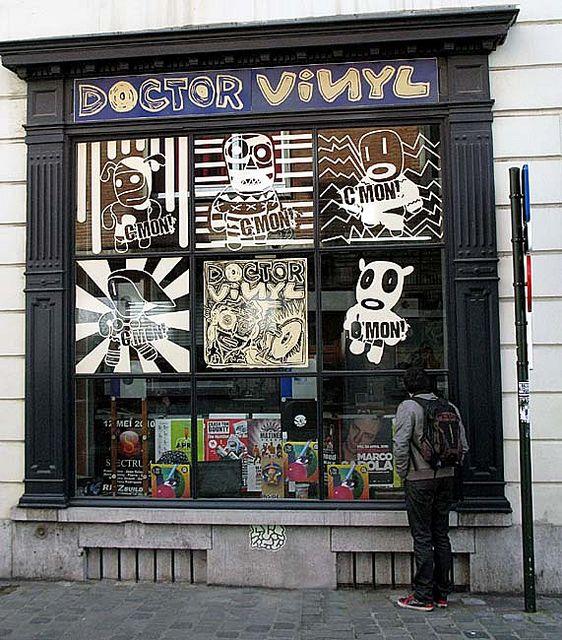 DOCTOR VINYL RECORD STORE. #music #records #trecordstores #vinyl http://www.pinterest.com/TheHitman14/ghosts-of-audios-past/