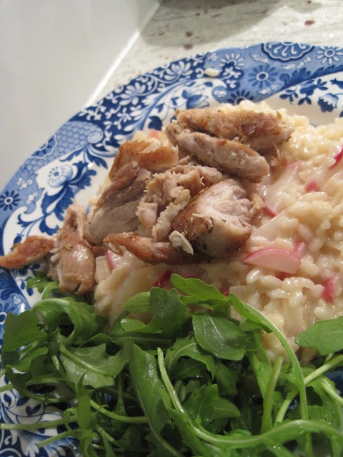Rosemary chicken with mascarpone risotto mascarpone for Ham risotto recipe