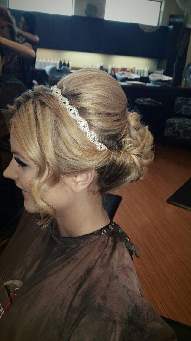 Wedding updo for shoulder length hair!