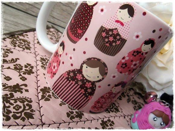 Caneca & Mug Rug MATRIOSKAS ROSE