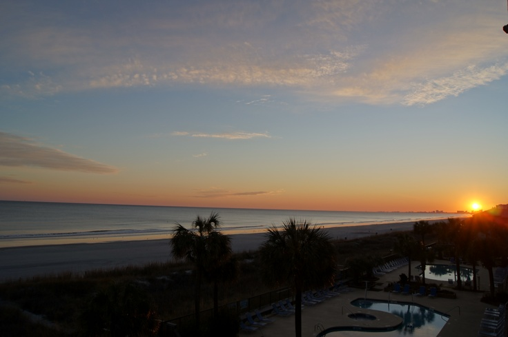 Sunset At Ocean Drive Beach North Myrtle South Carolina
