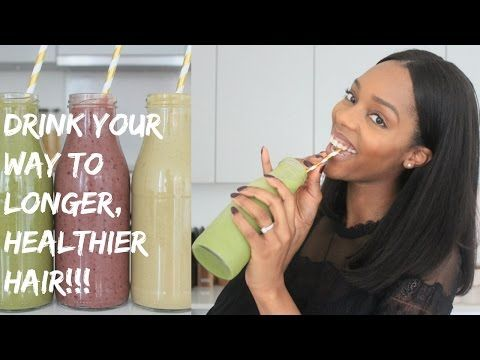 DRINK YOUR WAY TO LONGER, HEALTHIER HAIR WITH THESE 3 HIGHLY NUTRITIOUS SMOOTHIES! - YouTube