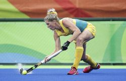 TWA-0050941 © WestPix 2016 Rio Olympics. Rio de Janeiro, Brazil. Hockeyroos vs India at ther Olympic Hockey Centre. Jodie Kenny  Picture: Simon Santi The West Australian