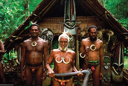 A chief and his sons, Ambrym Island.