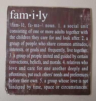 Define what family means to you.?