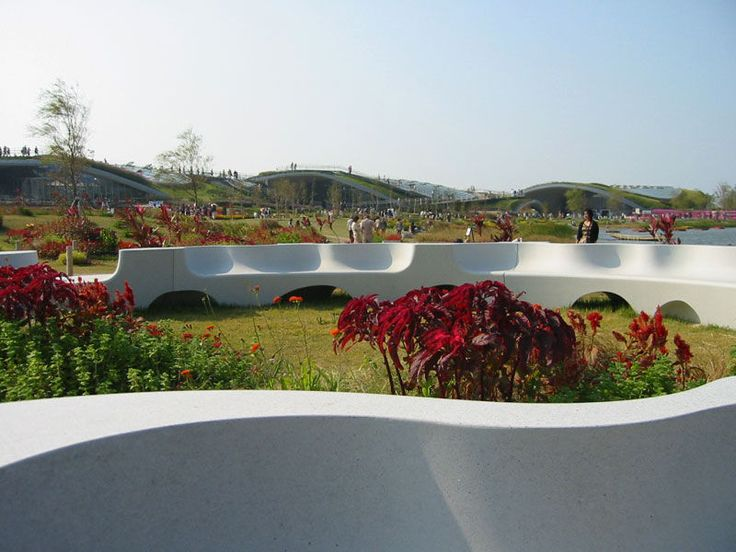 Public bench / original design / engineered stone / commercial - NAGUISA by Toyo Ito - Escofet