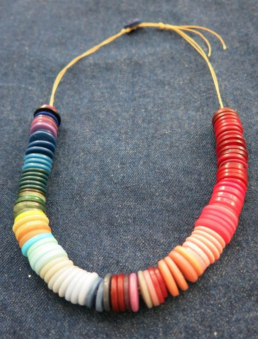 Best DIY Necklace Projects And Tutorials Images On Pinterest - Bright diy layered button necklace