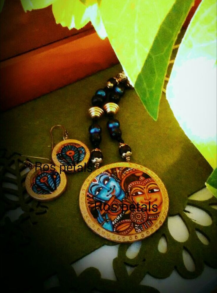 Kerala mural terracotta jewellery my creations pinterest for Mural jewellery