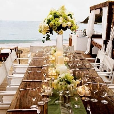 Beach #weddings #beach #flowers