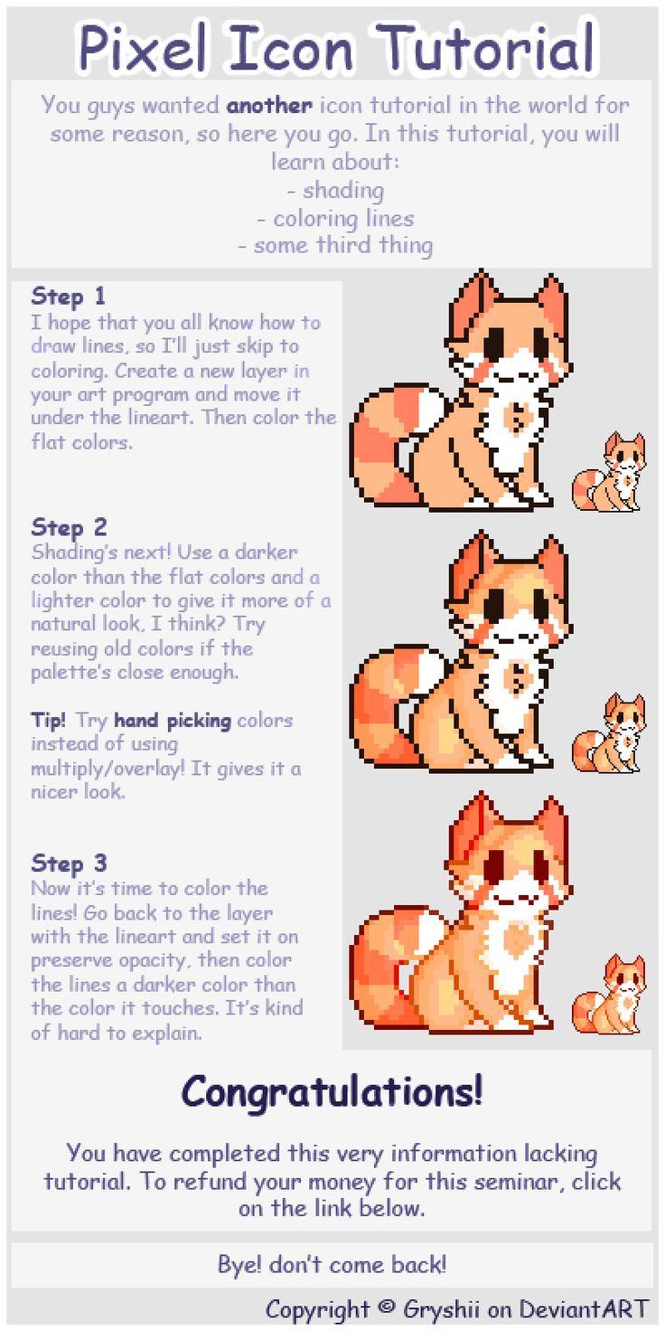Simple Pixel Icon Tutorial by Gryshii.deviantart.com on @DeviantArt