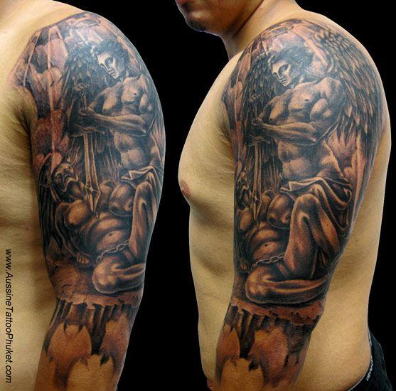17 b sta id er om saint michael tattoo p pinterest st michael och tatueringar f r m n. Black Bedroom Furniture Sets. Home Design Ideas