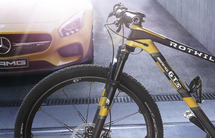 Mercedes-Benz объединился с немецким производителем велосипедов Rotwild для создания уникальной модели спортивного горного велосипеда Rotwild GTS с ограниченным тиражом. Как вдохновивший производителей автомобиль Mercedes-AMG GT, новый велосипед почти полностью изготовлен из карбона — цельная рама, руль Pro Tharsis XC, подседельный штырь Ergon SRX для сиденья, диски Crankbrothers Cobalt 11 диаметром 29 дюймов. Удобным дополнением является держатель для бутылки с водой.