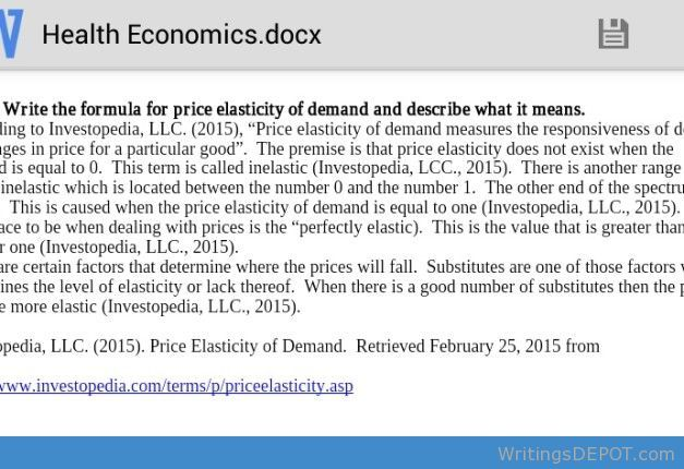 the price elasticity of water demand economics essay Price elasticity of demand (25 marks) essay depends on the price elasticity of demand for their products 25 marks callum barnett price elasticity of demand is the proportionate change in demand for a good, following an initial proportionate change in the good's own price most goods are either elastic or inelastic.