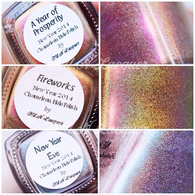 New Year 2014 Collection - Chameleon/ duochrome holographic polish -  A Year of Prosperity, Fireworks, New Year Eve photo by @Andrea Marconetti (dreamsnails)