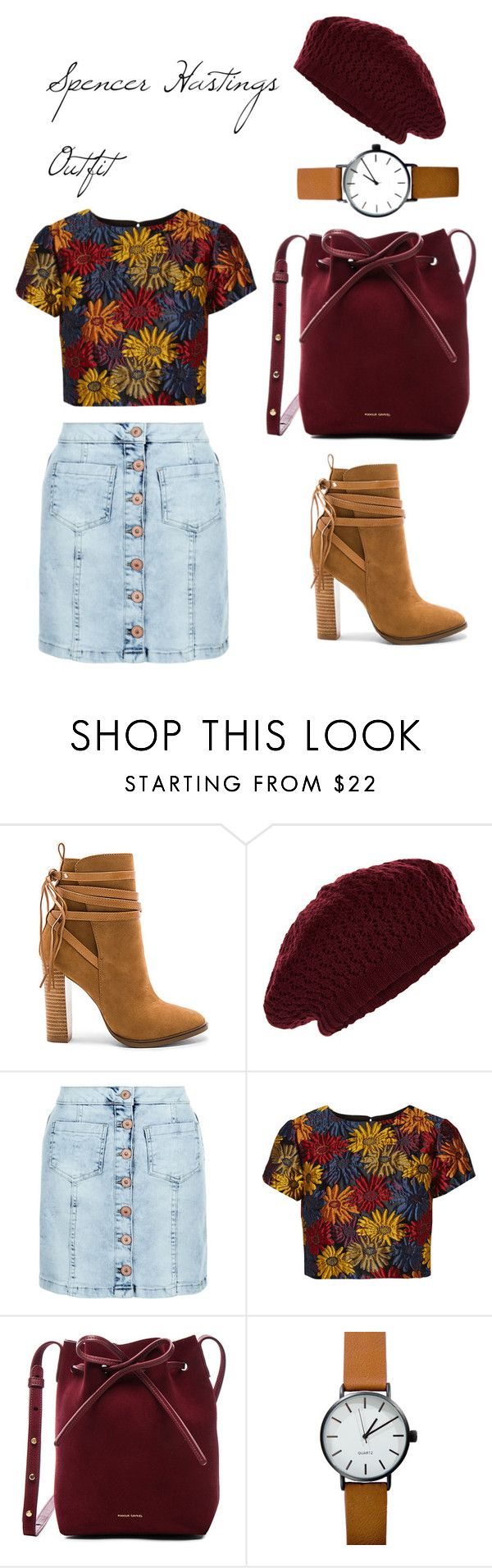 """""""Spencer Hastings Outfit"""" by andreellomp on Polyvore featuring moda, Steve Madden, Accessorize, New Look, Alice + Olivia e Mansur Gavriel"""