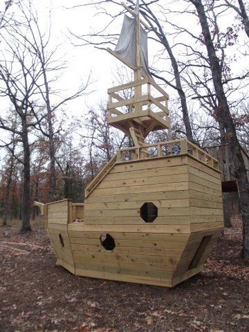 How to build a wooden pirate ship playhouse woodworking - Wooden pirate ship playhouse ...