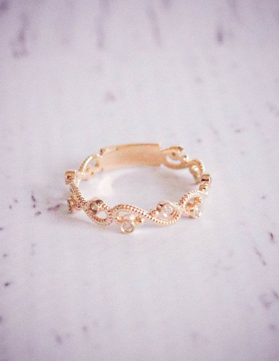 Diamond Rope Yellow Gold Wedding Band - great for 'tying' the knot!