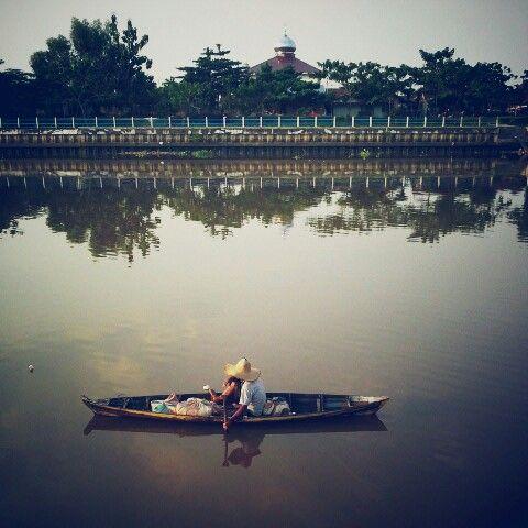 Alone Siak River - Pekanbaru Riau Sumatera Indonesia