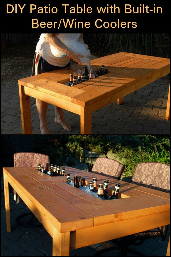 Best 25 wine coolers ideas on pinterest wine cooler for Build your own patio table